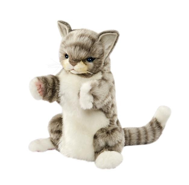 Hansa: Grey Cat - Plush Puppet (30cm)