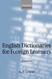 English Dictionaries for Foreign Learners by A.P. Cowie