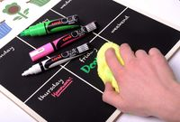 Uni Bullet Tip Chalk Marker - White (4mm) image