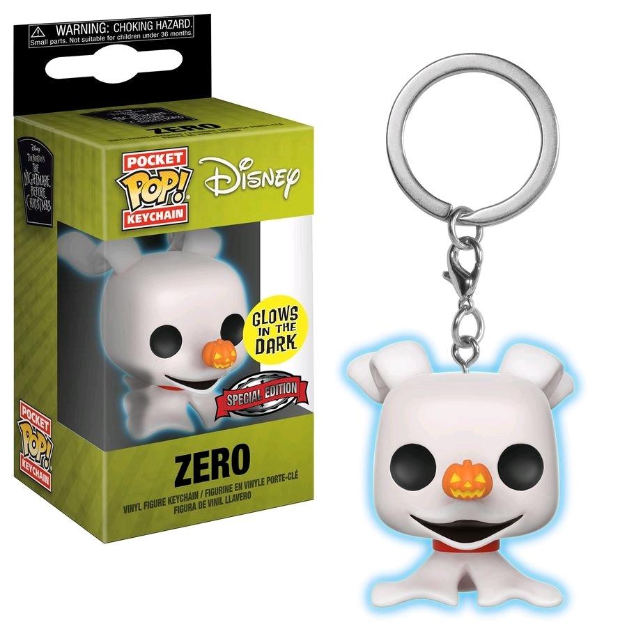 The Nightmare Before Christmas - Zero Glow Pocket Pop! Keychain image