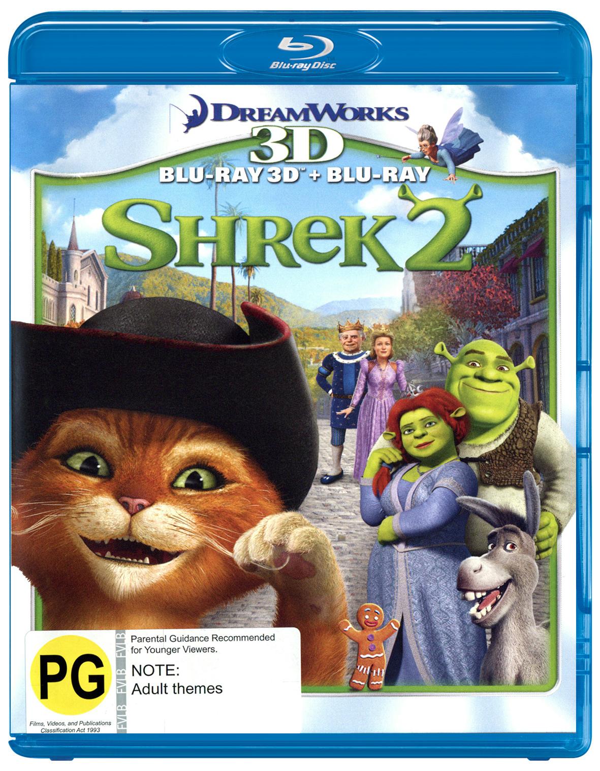 Shrek 2 - 3D Combo on Blu-ray, 3D Blu-ray image