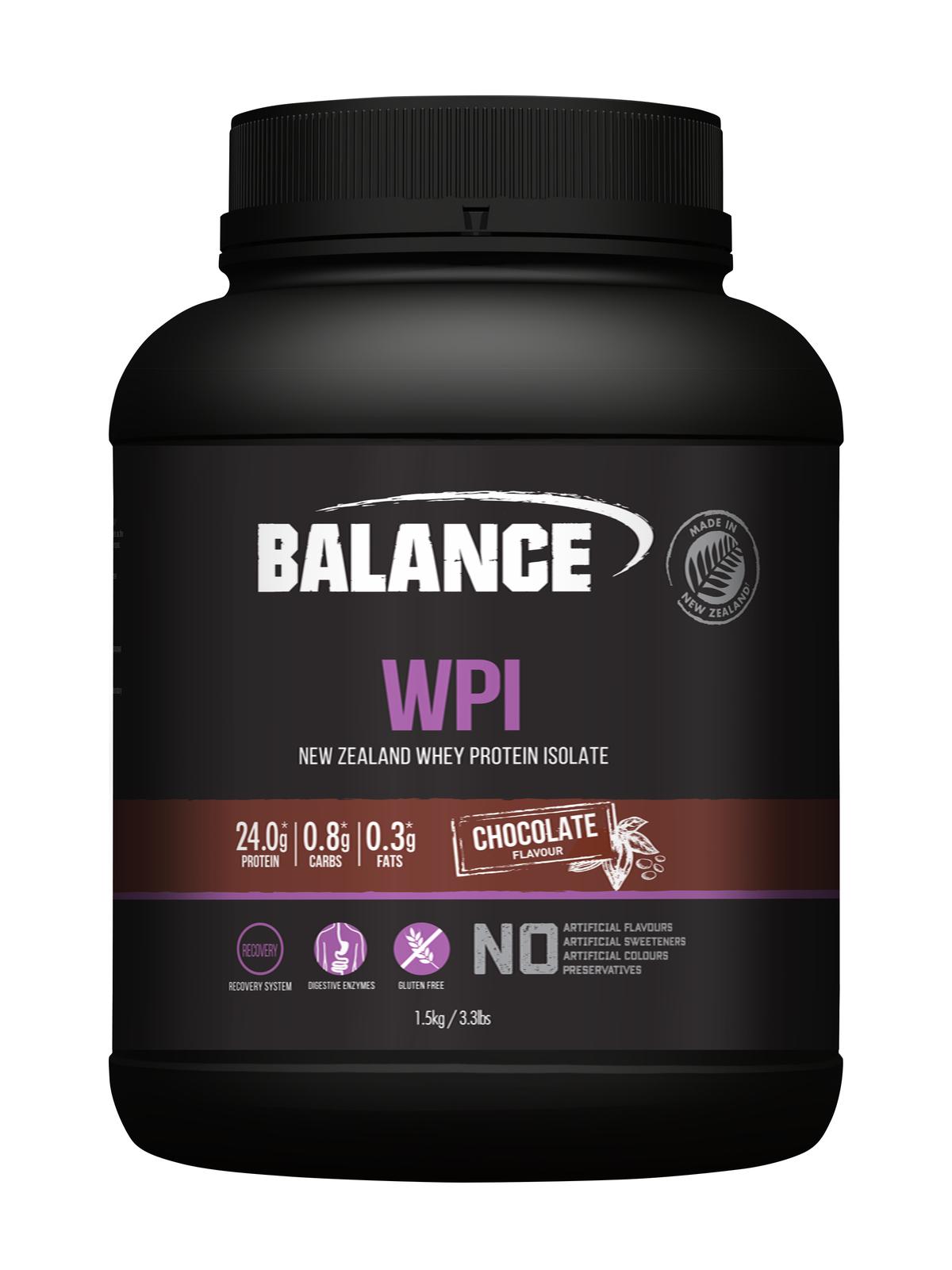 Balance WPI - Whey Protein Isolate Powder - Chocolate (1.5kg) image