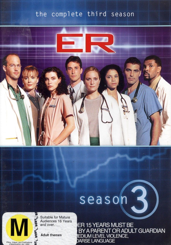 E.R. - The Complete 3rd Season (4 Disc Set) on DVD image
