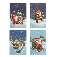 Paper House: Kids Cube Boxed Christmas Cards - Santa (20 Pack)