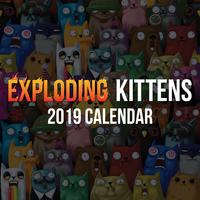Exploding Kittens 2019 Square Wall Calendar by Exploding Kittens LLC