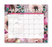 Floral Expressions 2020 Magnetic Monthly Desk Pad