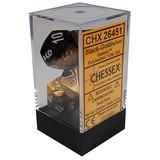 Chessex Gemini Polyhedral Dice Set Black-Gold/Silver