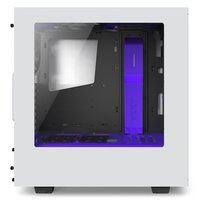 NZXT S340 Windowed Mid Tower Case - White/Purple image
