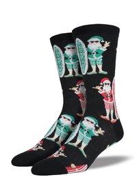 Mens - Surf Santa Christmas Crew Socks