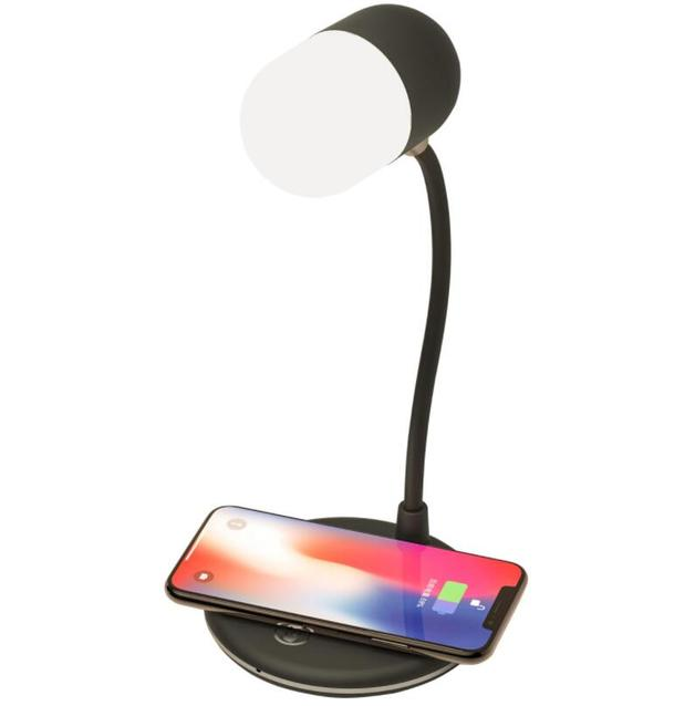3-in-1 Rotating Lamp & Bluetooth Speaker with Wireless Charger