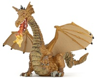 Papo - Gold Dragon with Flame