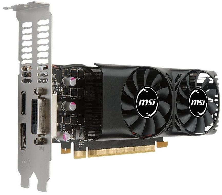 MSI GeForce GTX 1050 TI 4GB Low Profile Graphics Card image