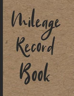 Mileage Record Book by Zeezee Books image