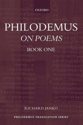 Philodemus: On Poems, Book 1 image
