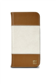 Maroo The Aura Wallet: Light Brown And White iPhone 6+ Case