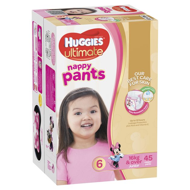 Huggies Ultimate Nappy Pants: Jumbo Pack - Junior Girl 16kg+ (45)