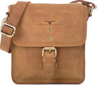 Urban Forest: Little Joe Leather Body Bag - Cognac