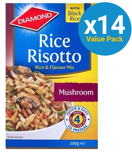 Diamond: Rice Risotto Gluten Free Mushroom (200g x 14)