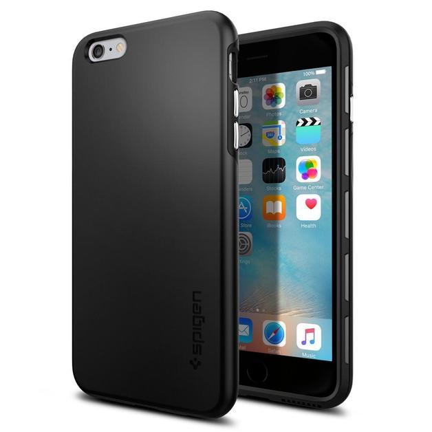 Spigen: iPhone 6s Plus - Thin Fit Hybrid Case (Black)