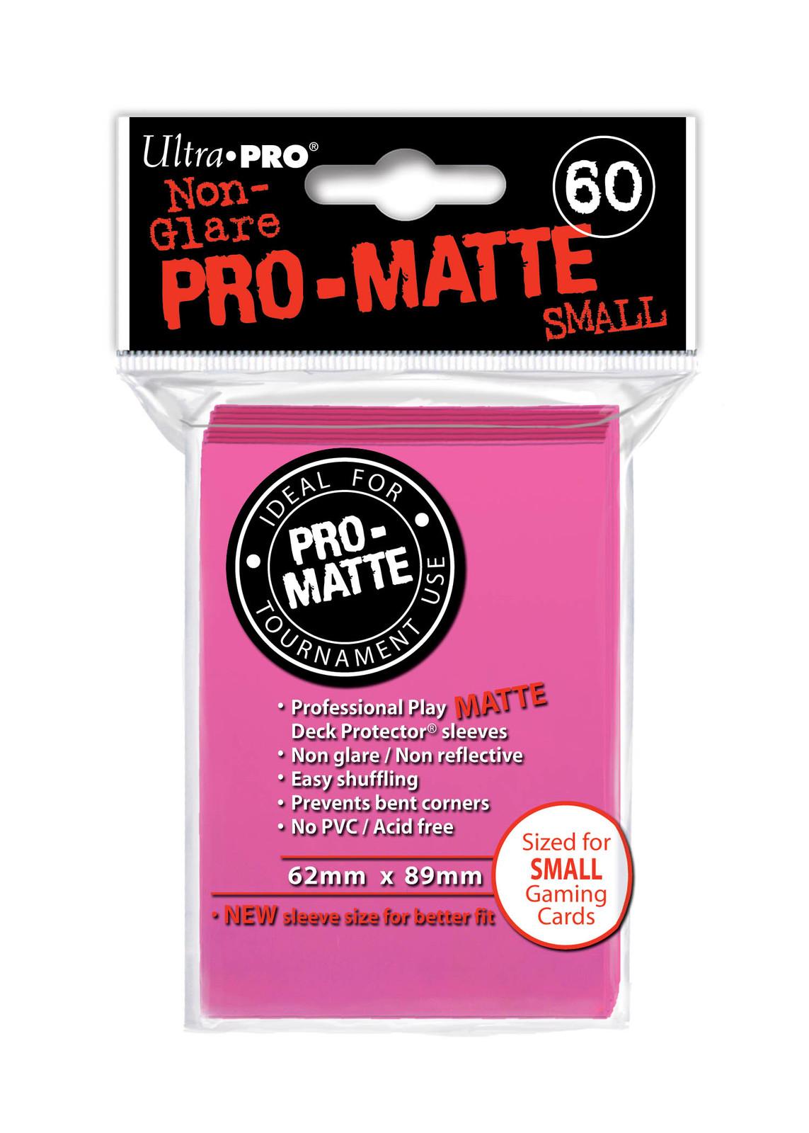 Ultra Pro: Deck Protectors - Pro-Matte Small Bright Pink (60) image