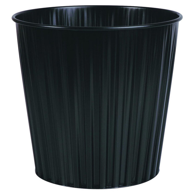 Fluteline 15L Metal Waste Bin - Black