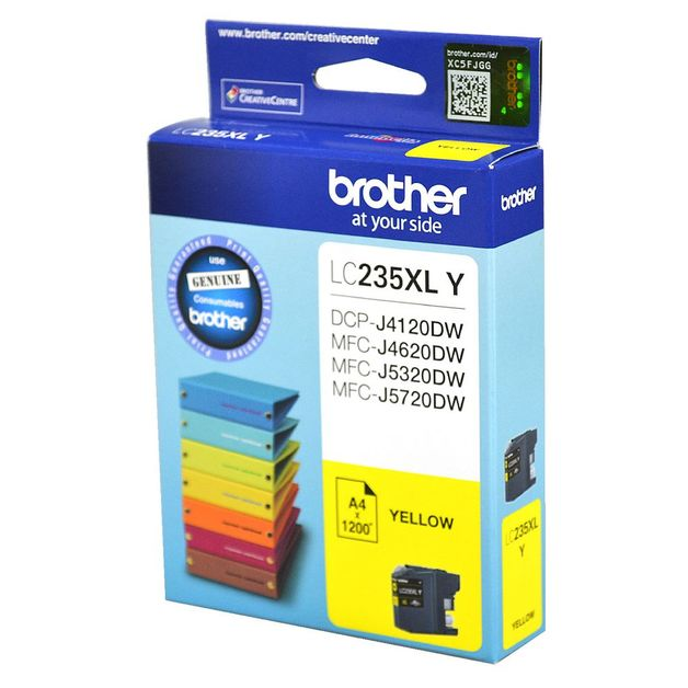 Brother LC-235XLY High Yield Ink Cartridge (Yellow)