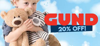 20% off Gund
