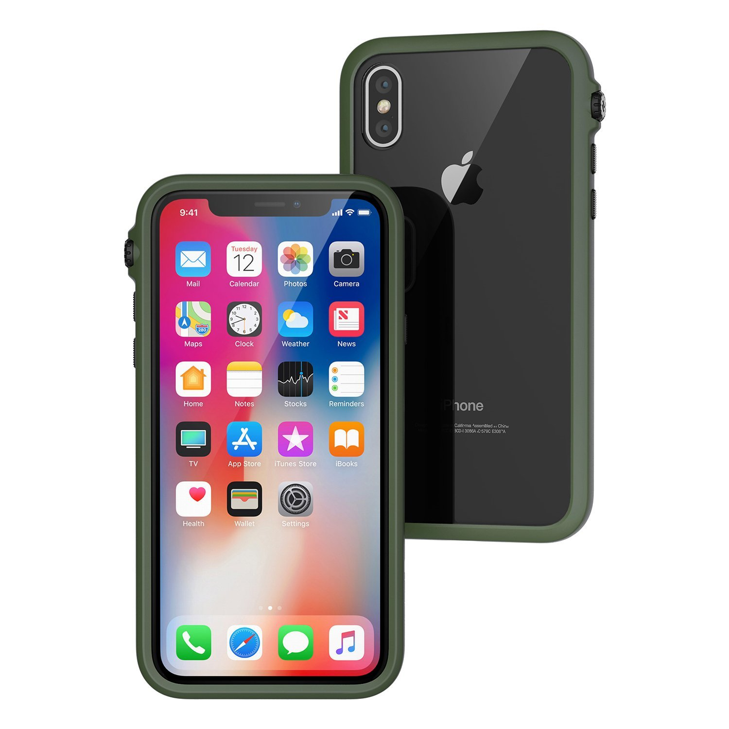 CATALYST Impact Protection case for iPhone 8 Plus (Green/Black) image