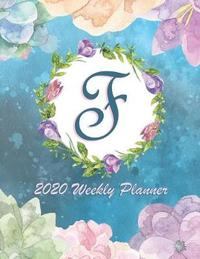 F - 2020 Weekly Planner by Dee's Monogram Notebooks image