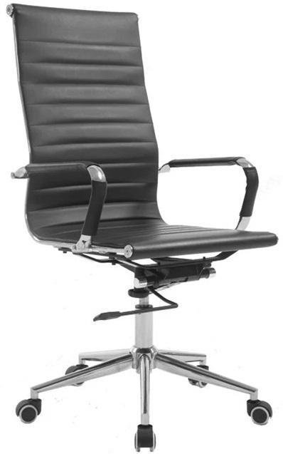 Gorilla Office: Replica Eames High Back Chair - Black