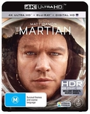 The Martian on Blu-ray, UHD Blu-ray, UV