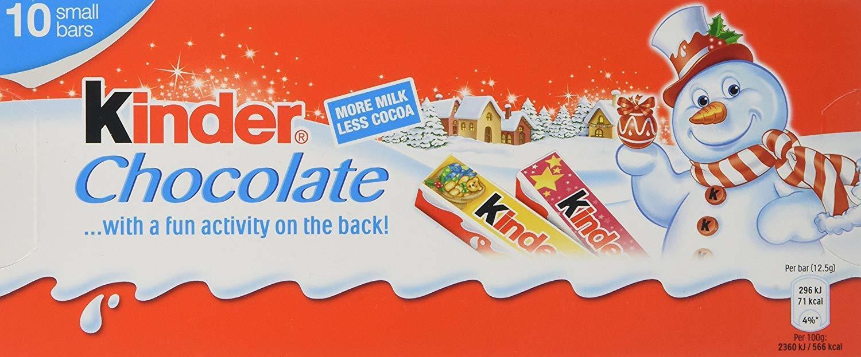 Kinder Chocolate Christmas Small Bars (125g) image