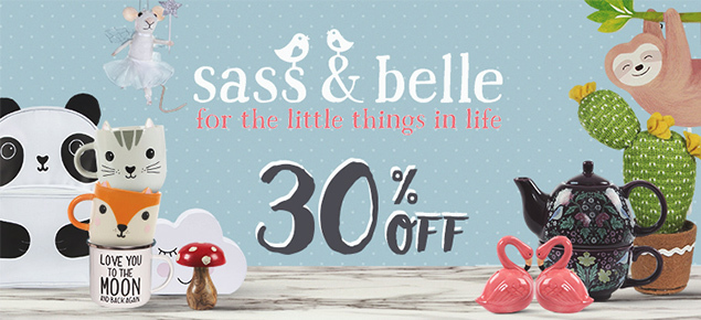 30% off Sass & Belle!