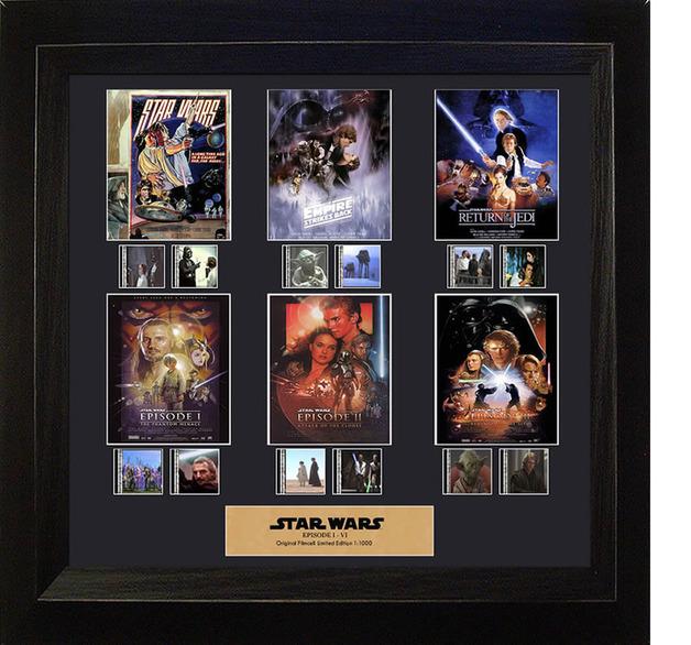 FilmCells: Montage Frame - Star Wars (Episodes I-VI)