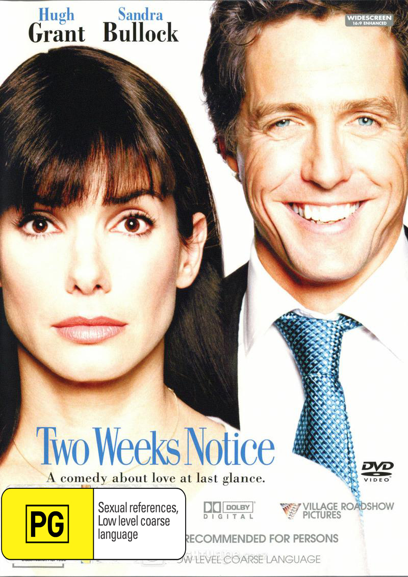 Two Weeks Notice on DVD image