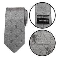 Game of Thrones Lannister Geometric Sword Gray Men's Tie