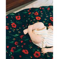 Little Unicorn: Cotton Muslin Swaddle - Dark Summer Poppy (Single) image