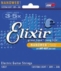 Elixir Custom Light 9-46 NanoWeb Coating - Electric Guitar Strings