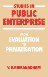 Studies in Public Enterprise by V.V. Romanadham