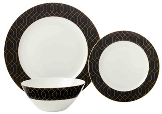 Maxwell u0026 Williams Cashmere Nocturne Dinner Set 12pc Black/Gold Gift Boxed  sc 1 st  Mighty Ape & Maxwell u0026 Williams Cashmere Nocturne Dinner Set 12pc Black/Gold Gift ...