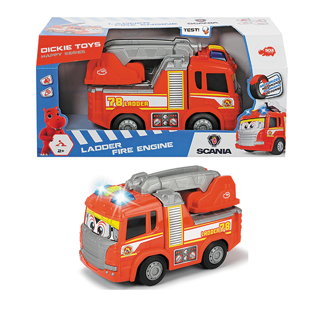 Dickie Toys: Happy Fire Truck - Motorised Vehicle