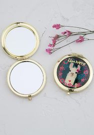 Natural Life: Compact Mirror - Llive Happy Llama