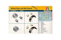Italeri Wheels Rims and Mud Guards 1:24 Model Kit