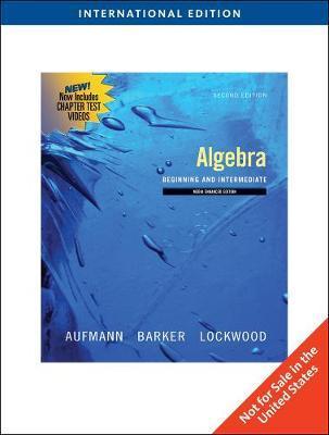 Algebra by Richard N Aufmann