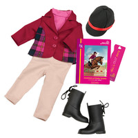 Our Generation: Read & Play Set - Lily Annas Riding Outfit