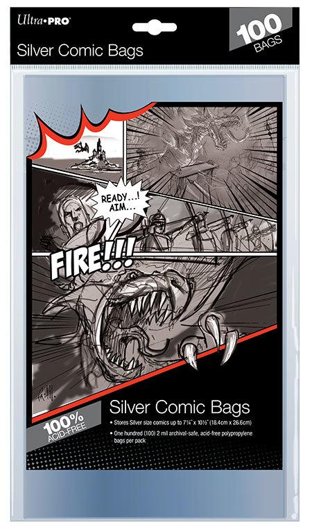 "Ultra Pro: Silver Comic Bags - (7.25"" x 10.5"")"