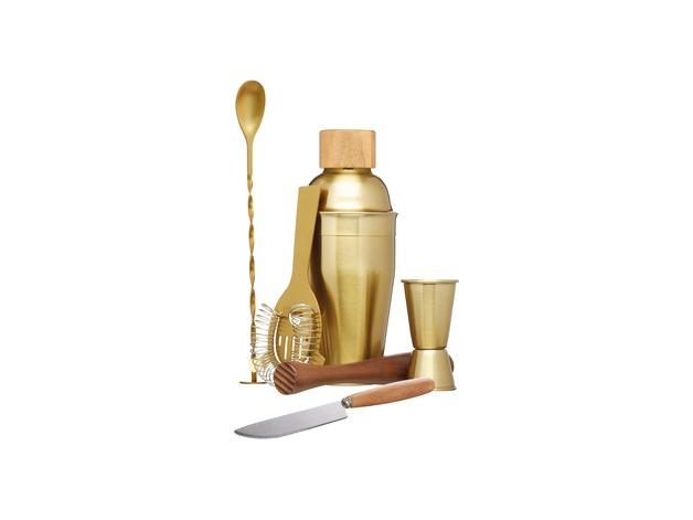 Brass Cocktail Set