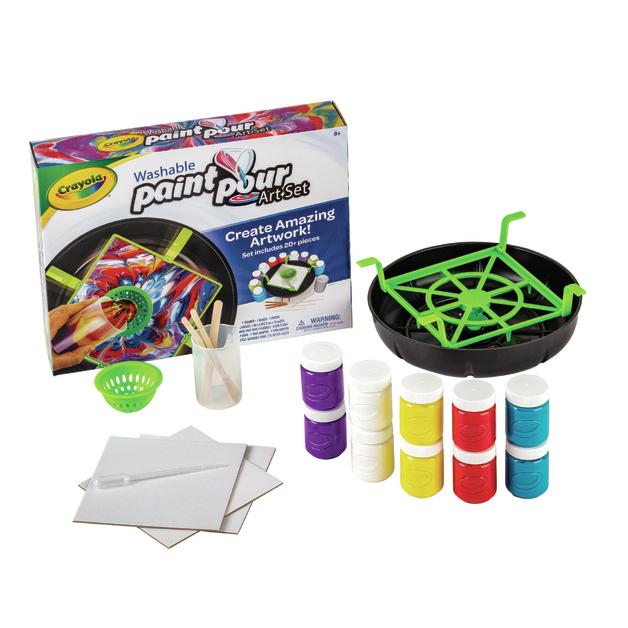 Crayola: Washable Paint Pour - Art Set