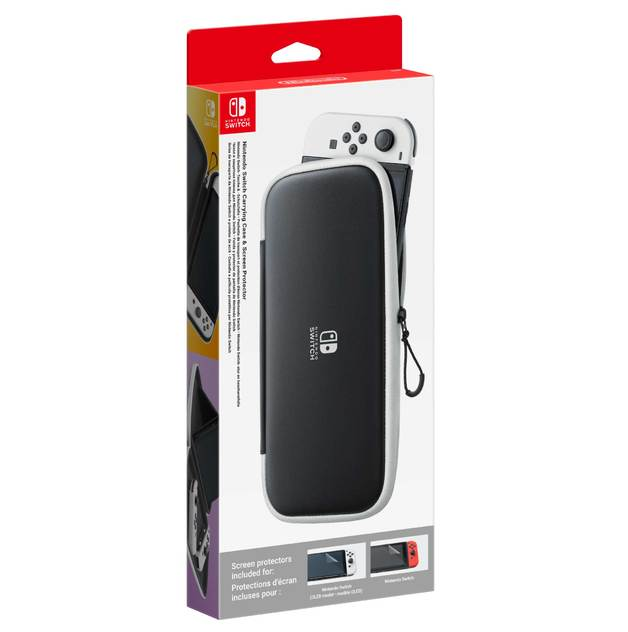 Nintendo Switch OLED Model Carry Case + Screen Protector for Switch
