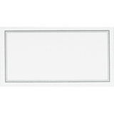 C.R Gibson Place Cards - White with Silver Border (20 Cards)
